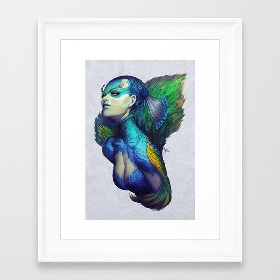 Peacock Queen Framed Art Print