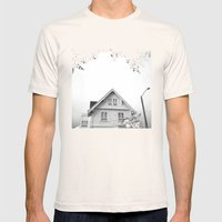 Whit House White Sky Mens Fitted Tee Natural SMALL