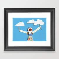 Cloud-eater Framed Art Print