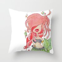 suki -- part of the merm story. Throw Pillow