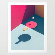 Pop Pong Art Print