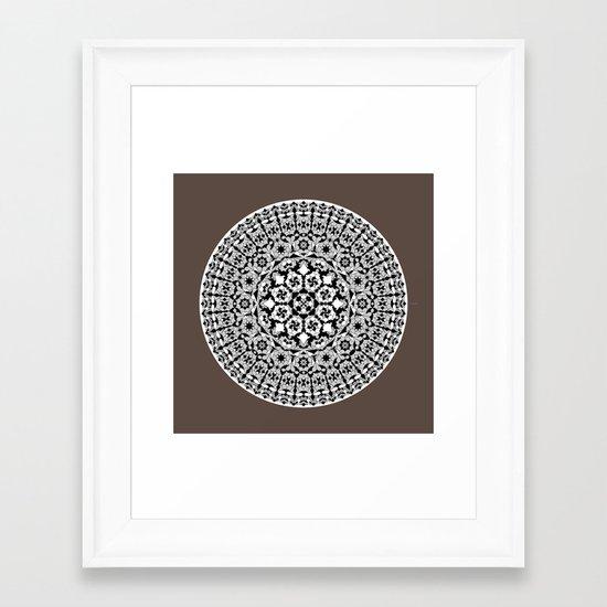 Khatem Rosette 005   Coffee Framed Art Print