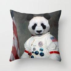 Bear-o-naut Throw Pillow
