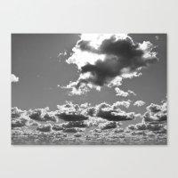 Canvas Print featuring marshmallow sky by BRITTATALUMAA