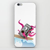 Monster Camera Surfing iPhone & iPod Skin