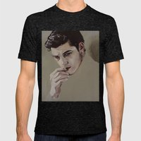 Doubt Mens Fitted Tee Tri-Black SMALL