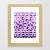 Berry Purples - Triangle… Framed Art Print