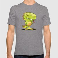 Anmals N' Stuff Series - 2 - Lizard Mens Fitted Tee Tri-Grey SMALL