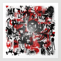 graffiti Art Prints featuring Graffiti  by Jonna Ivin