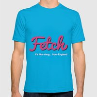 Fetch Mens Fitted Tee Teal SMALL