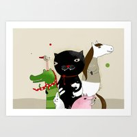 United Animals Art Print