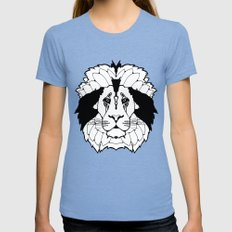 The Mane Attraction Womens Fitted Tee Tri-Blue SMALL
