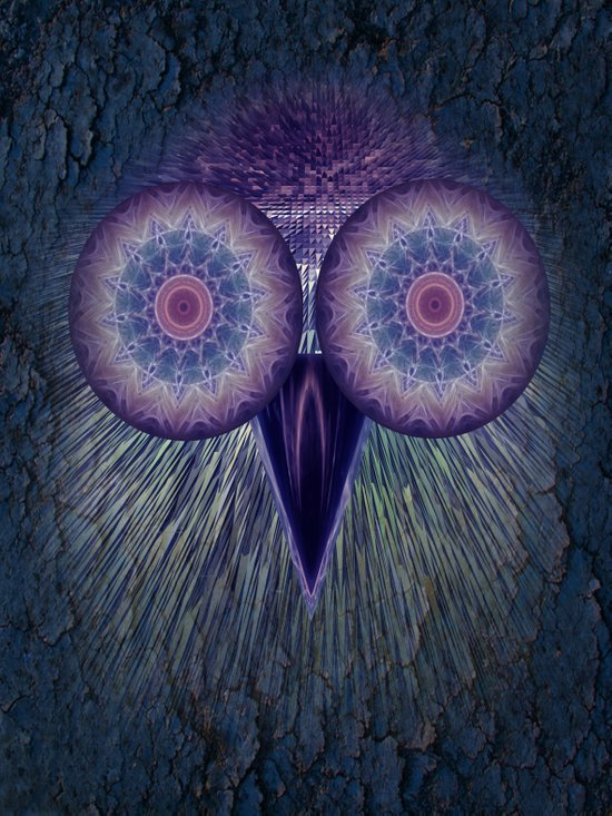 The blue Owl Art Print