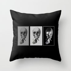 skull#05 Throw Pillow