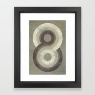 Framed Art Print featuring Eight by Metron