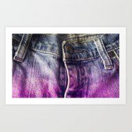 Art Print featuring Faded Jeans by Bunhugger Design