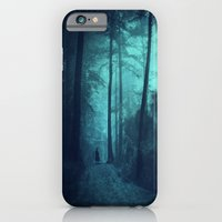 iPhone Cases featuring Light in a cyan forest by Dirk Wuestenhagen Imagery