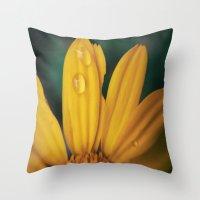 Yellow Water Throw Pillow