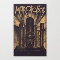 Metropolice Canvas Print