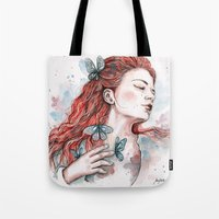 Girl With A Butterfly, W… Tote Bag