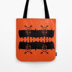 Orange AbstractArtwork Tote Bag