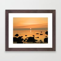 Sunset Ayrshire coast (Scotland) Framed Art Print