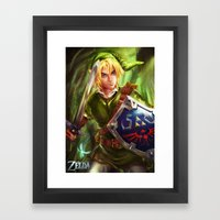 Link - Legend of Zelda Framed Art Print