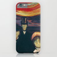 iPhone & iPod Case featuring Edvard Munch - Anxiety by TilenHrovatic