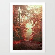 magical redwoods Art Print
