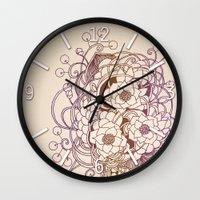 Flowernest zentangle Wall Clock