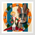 The Little Prince, Groot and owls  Art Print
