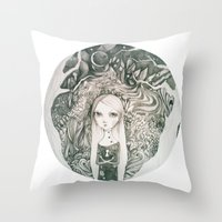 Keyhole In The Jungle Throw Pillow