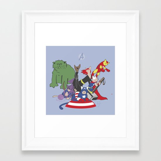 The Catvengers - Earth's Mightiest Kitties Framed Art Print