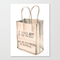 Art To Pay The Bills Canvas Print