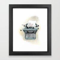 I Will Love.  Framed Art Print