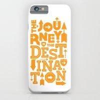 Orange Type Journey Quote  iPhone 6 Slim Case