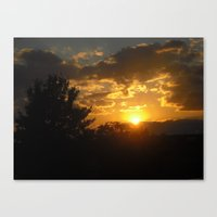 Silhouette Sunset Canvas Print