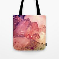 Quartz Mineral Gem Cluster Tote Bag