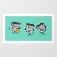 Kick the Bucket Art Print
