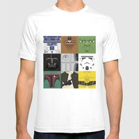 Starwars combo Mens Fitted Tee White SMALL