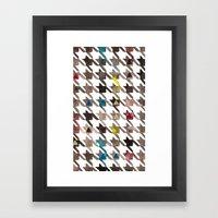 Houndstooth Framed Art Print