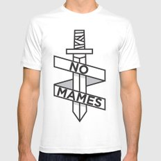 NO MAMES SMALL White Mens Fitted Tee