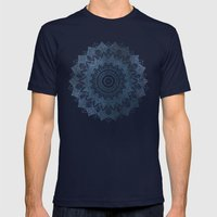 BOHOCHIC MANDALA IN BLUE Mens Fitted Tee Navy SMALL
