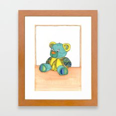 Teddy Greeting card Framed Art Print