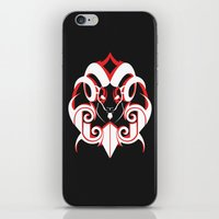 Warrior (White & Red) iPhone & iPod Skin
