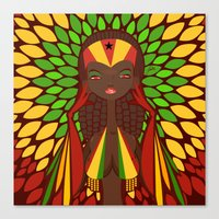 FIFA 2014 Samba Girls Series: Ghana Canvas Print