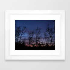 The line between night and day Framed Art Print