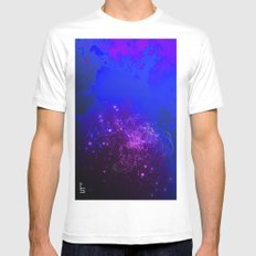 Mysterious World Below the Surface Mens Fitted Tee SMALL White