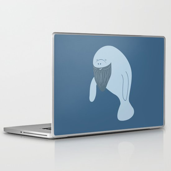 Silly Bearded Manatee Laptop & iPad Skin