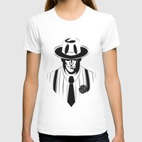 the gangster way Womens Fitted Tee White SMALL